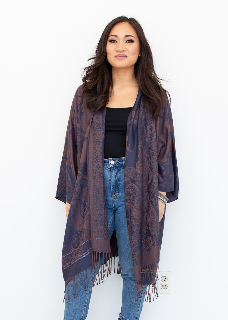 Zion Boho Jacket in Navy