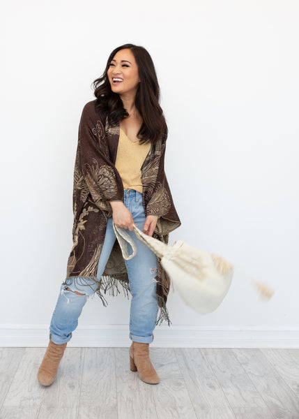 PRIMROSE BOHO JACKET - BROWN