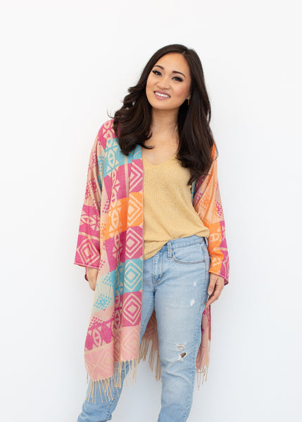 FREE SPIRIT BOHO JACKET - BRIGHTS