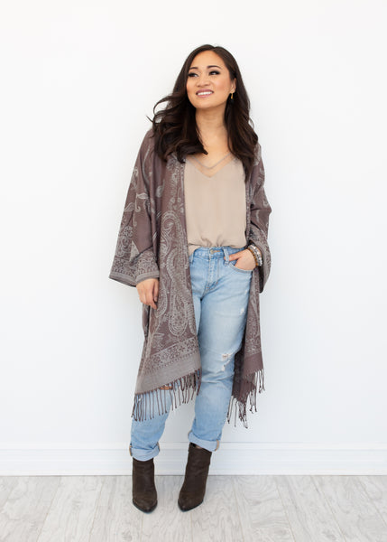 ZION BOHO JACKET - LATTE