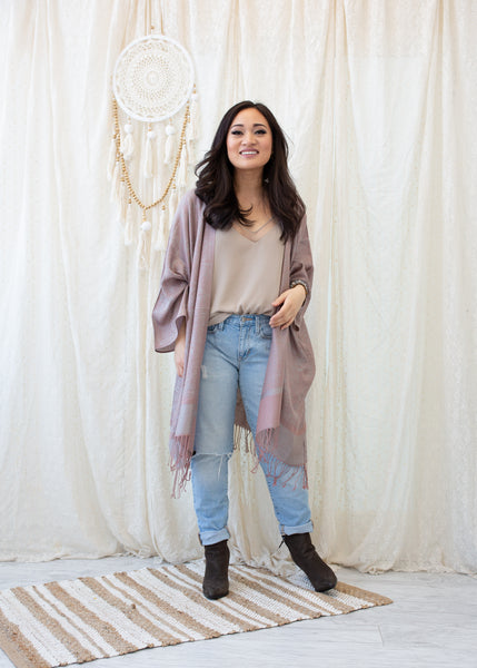 ANNEX BOHO JACKET - NEUTRAL BLUSH