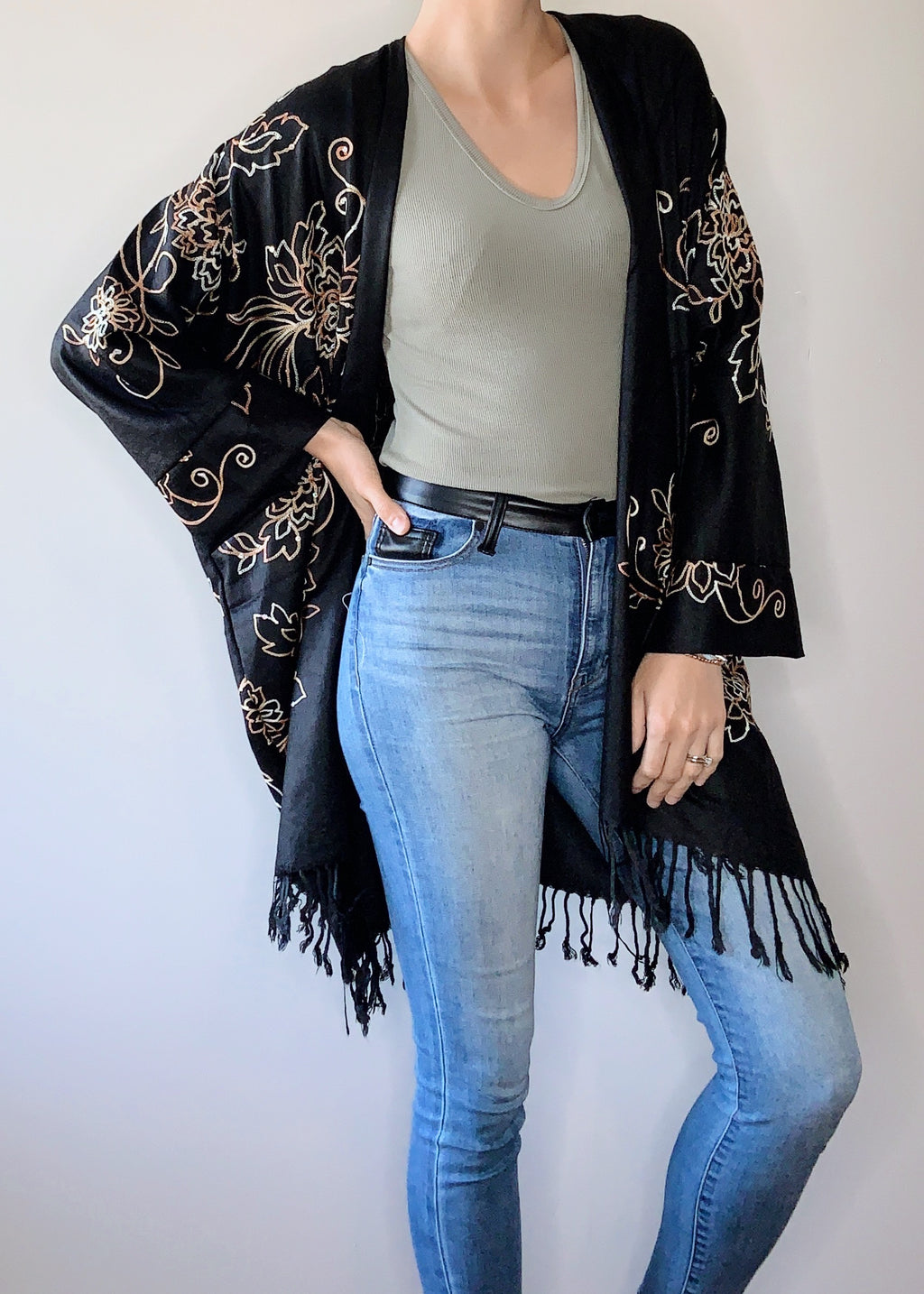 Nostalgia Boho Jacket in Black with Cuffs