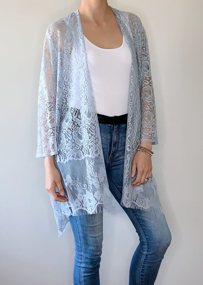 Monaco Boho Jacket in Grey