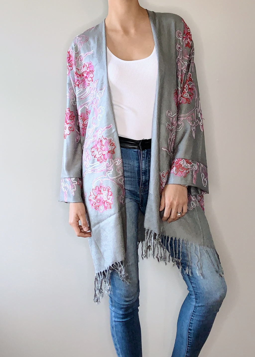 Nostalgia Boho Jacket in Grey with Cuffs