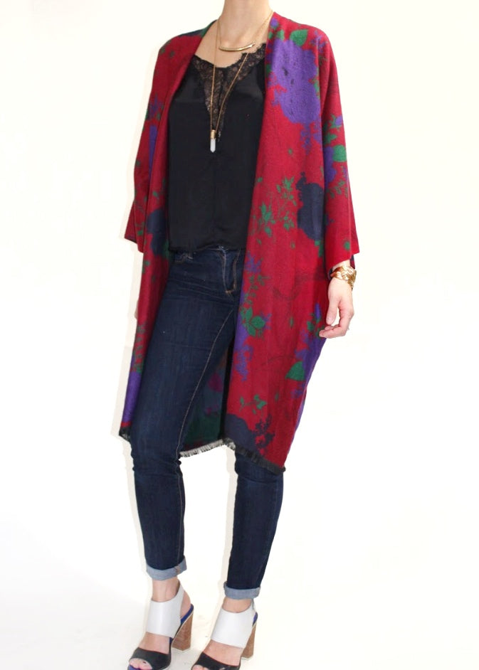 Manhattan Boho Jacket in Red