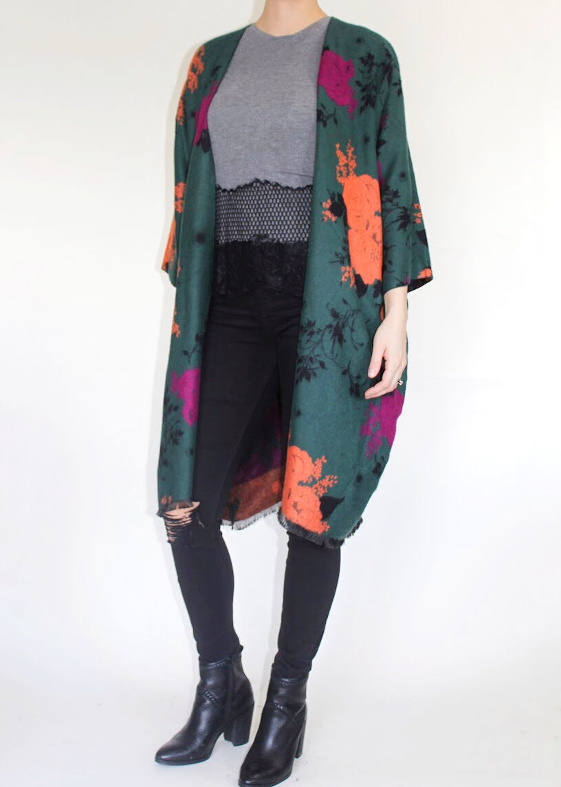 Manhattan Boho Jacket in Evergreen