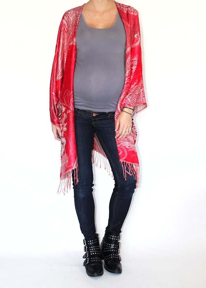 Primrose Boho Jacket in Ruby