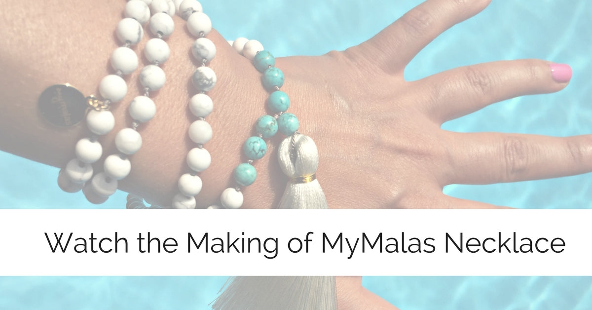 Watch the making of a Mala Bead Necklace: Time Lapse Video