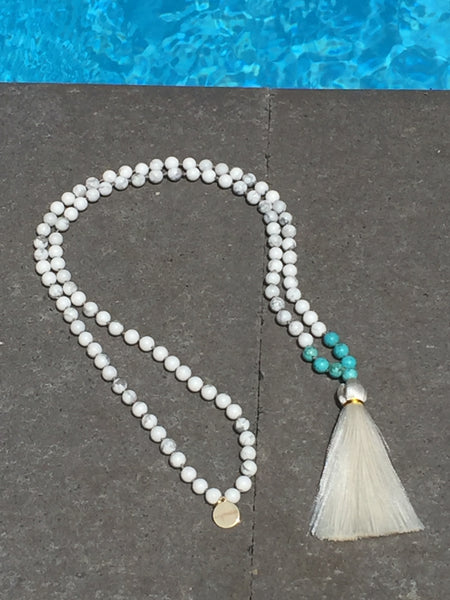 True Path Mala Beads white howlite