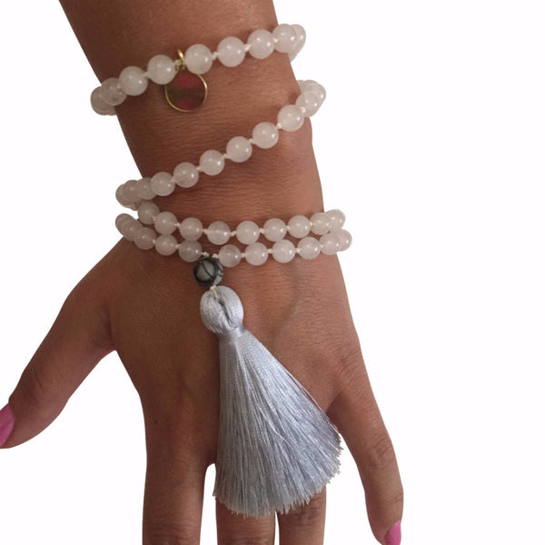 Mala Beads Rose quartz Handmade
