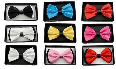 BLACK WITH PINK PUNKER LIPS TUXEDO ADJUSTABLE BOWTIE BOW TIE-NEW BOX!