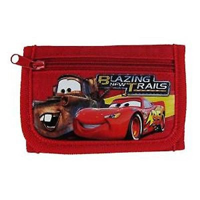CARS LIGHTENING MCQUEEN RED BLAZING NEW TRAILS TRI-FOLD WALLET-NEW W/ TAGS!