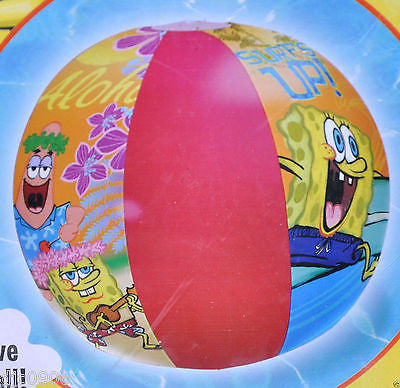 "Nickelodeon Nick Jr. Spongebob Sponge Bob Patrick 20"" Beach Ball-New in Package!"