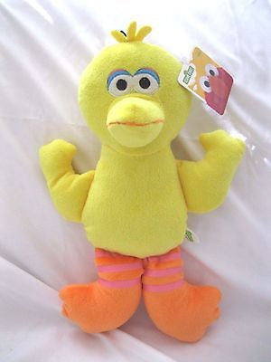 "Sesame Street Yellow 13"" All Fabric Big Bird Plush Doll Soft Stuffed Toy Figure"
