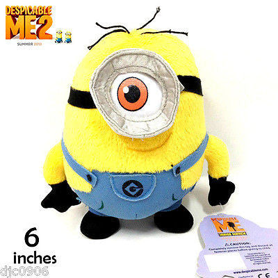 Despicable Me 2 Stuart 3D Stuff Plush Dolls-New with Tags! Disney Stuart Plush!!