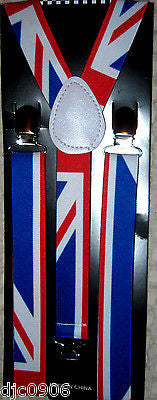 Small British England Adjustable Bow Tie & British Flag Adjustable Suspenders