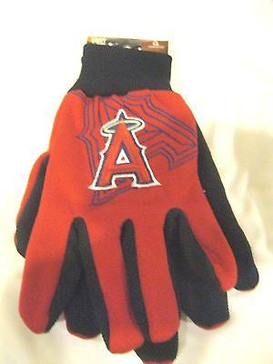 Anaheim Angels Red with Raised Team Logo Licensed MLB Sport Utility Gloves-New!