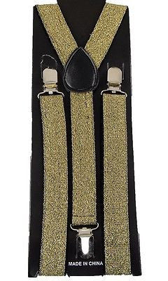 Unisex Forest Green Dark Green Sequin Sequence Adjustable Y-Back suspenders-New!