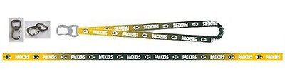Packers 2 Tone Reversible Licensed NFL Keychain/ID Holder Detachable Lanyard-New