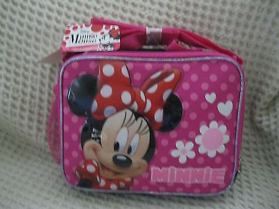 Disney Minnie Mouse Insulated Lunchbox-Minnie Mouse Polka Dot Lunch Bag-New!!