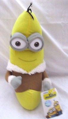 "Disney 10"" Despicable Me 2 Minions Banana Eskimo Soft Stuffed Toy-Brand New!"