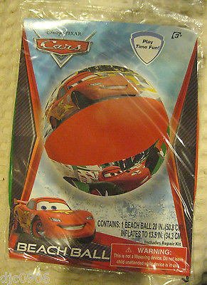 "Disney The Cars McQueen The Cars 20"" Beach Ball-Random McQueen beach ball-New!"