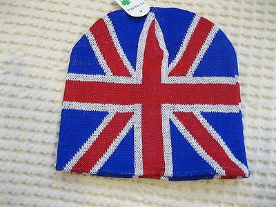 British Flag Red,White,& Blue England Flag Beanie Ski Cap-New with Tags!