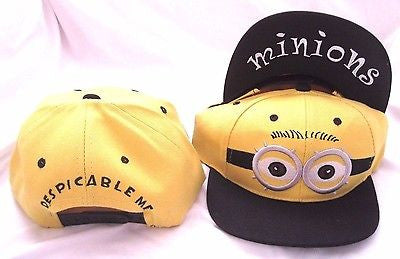 Despicable Me 2 Minion Embriordered Outdoor Adjustable Baseball Cap Snapback Hat