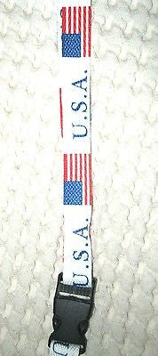 "God Bless the U.S.A 15"" lanyard-US American Flag Lanayrd ID Holder-Brand New!"