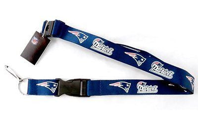 Patriots 2 Tone Licensed NFL Keychain/ID Holder Detachable Lanyard-Brand New!