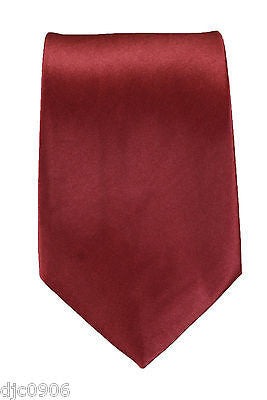 "Unisex Bright Ruby Red Silk Feel Polyester Neck tie 56"" L x 3"" W-RedTie-New"
