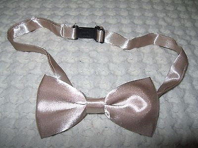 Kids Boys Girls Solid Cream Beige Tan Adjustable Bow Tie-Children's Cream Bowtie