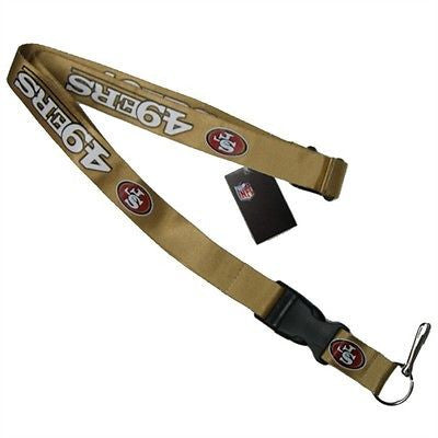 49ers Gold Officially Licensed NFL Keychain/ID Holder Detachable Lanyard-New!