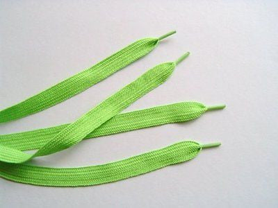 "Thick Solid  Lime Green 52"" Rockabilly Punk Shoe Laces Shoelaces-New with Tags"