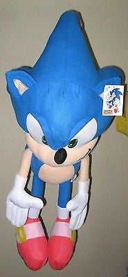 "Sonic the Hedgehog Large Plush 24"" Blue Sonic Plush Doll-New with tags!"