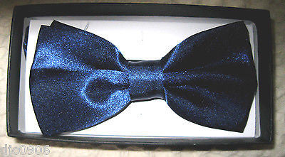 Unisex NAVY BLUE Tuxedo Classic BowTie Neckwear Adjustable Bow Tie-New in Box!