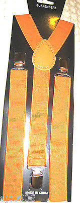 Neon ORANGE Y-Shape Back Adjustable Suspenders Men,Women Orange Suspenders-New!!