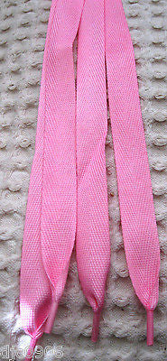 Premium Flat Pink Rockabilly Punk Shoe laces-New with Tags! Pink Shoe laces-New!