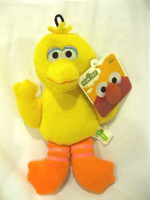 "Sesame Street Yellow 8"" All Fabric Big Bird Plush Doll Soft Stuffed Toy Figure"
