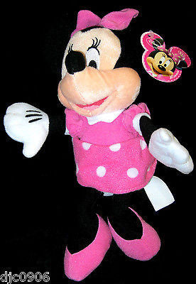 "DISNEY 7"" MINNIE MOUSE PLUSH TOY-LICENSED STUFFED TOY-DISNEY PLUSH-NEW W/TAGS"