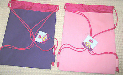 LITTLE PRINCESS HOT PINK DRAWSTRING BAG BACKPACK TRAVEL STRING POUCH-BRAND NEW!!