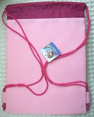 FROZEN ANNA,ELSA,SVEN,HANS,OLAF LIGHT PINK DRAWSTRING BAG BACKPACK TRAVEL POUCH