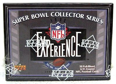 1993 Upper Deck Super Bowl Collector Series NFL Experience Football Set of 50