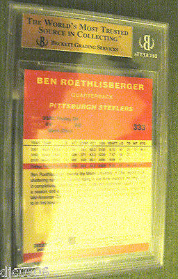 Ben Roethlisberger RC 2004 Fleer Traditional Rookie #333 Graded GEM MT BGS 9.5