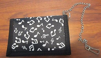 "Black and White GUITARS Wallet Unisex Men's 4.5"" x 3"" W-New in Package!"