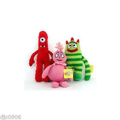 Yo Gabba Gabba Muno,Foofa,& Brobee Large Plush Cuddle Pillow Combo- NEW w/Tags!