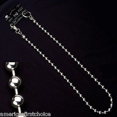 "12"" SILVER SHOT BEADS WALLET JEAN CHAIN HIP HOP PUNK KEYCHAIN-BIKER CHAIN-NEW"