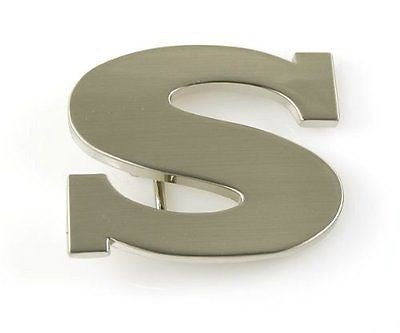 "Initial Letter Stainless Metal ""S"" Buckle-S Initial Belt Buckle-Brand New!"