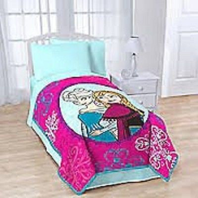 "Frozen Anna and Elsa ""Snowflake"" Fleece Blanket by Disney-Brand New!"