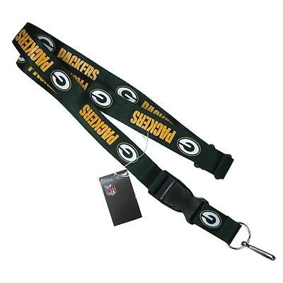 Packers Green Licensed NFL Keychain/ID Holder Detachable Lanyard-Brand New!